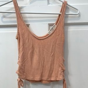 Project social T lace up side tie tank top